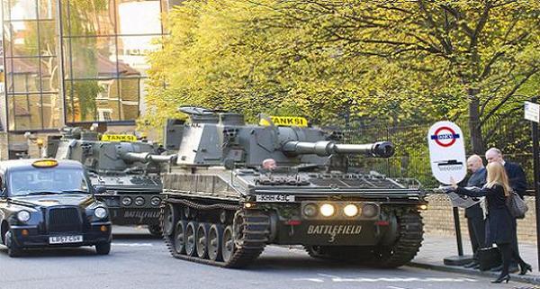Такси-танк TANKSI (Лондон)