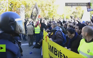 По всей Испании проходит масштабная забастовка таксистов