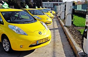 Более 500 электрических такси Nissan работают в Европе